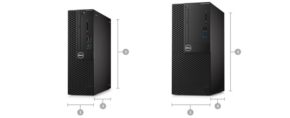 Description: Optiplex 3050 Desktop - Kích thước & Trọng lượng